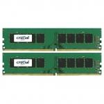 Оперативная память 16GB KIT (2x8Gb) DDR4 2400MHz Crucial PC4-19200 CL=17 Dual Ranked 1.2V NON ECC CT2K8G4DFD824A