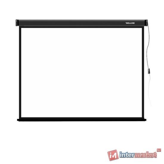 Проекционный экран, Deluxe, DLS-E244-183, Моторизированный, 244x183, Matt white, Чёрный
