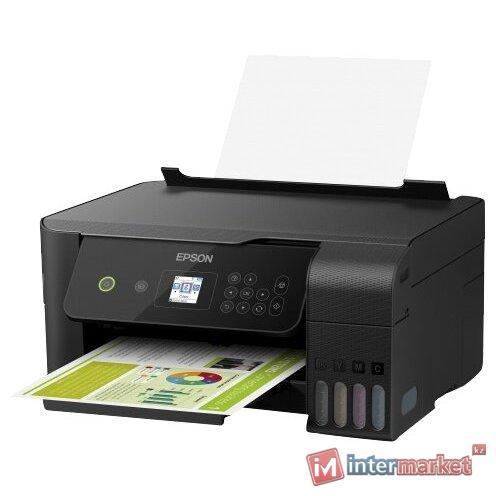 Струйное МФУ Epson L3160, A4, принтер/сканер/копир, скорость печати 33 стр/мин, Wi-Fi,USB, ЖК Дисплей