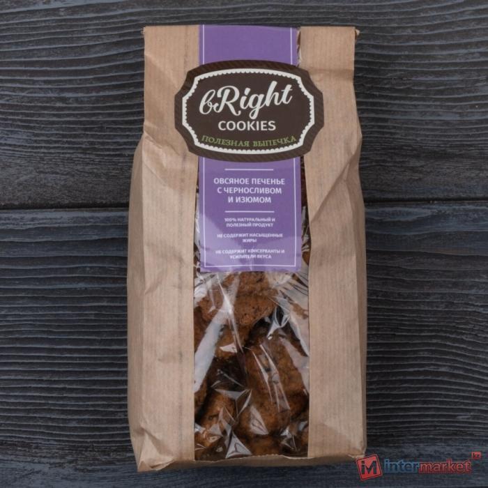 Печенье овсяное Bright Cookies с черносливом и изюмом 250 г